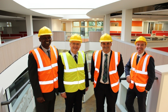 Jake Berry MP Minister for the Northern Powerhouse and Local Growth visits Harrogate Borough Councils new civic centre